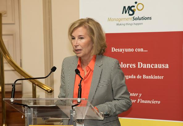 Management Solutions sponsors an ICADE Business Club breakfast-discussion with Ms. María Dolores Dancausa