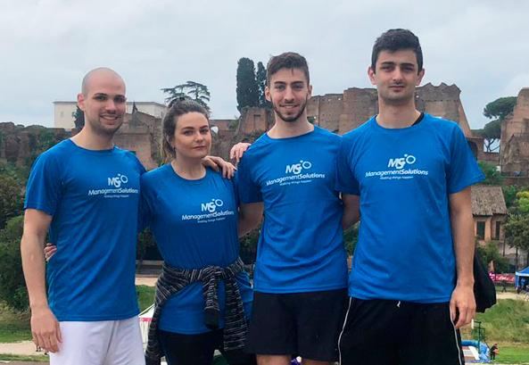 "Management Solutions participa da corrida ""Race for the Cure"" em Roma"