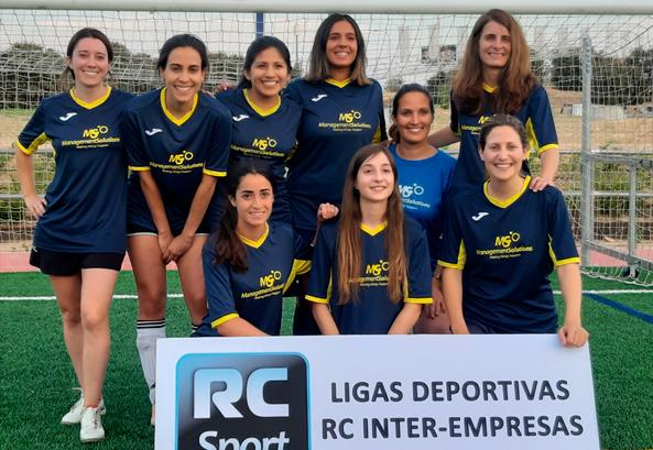 Management Solutions is runner-up in women's 7-a-side inter-company soccer tournament