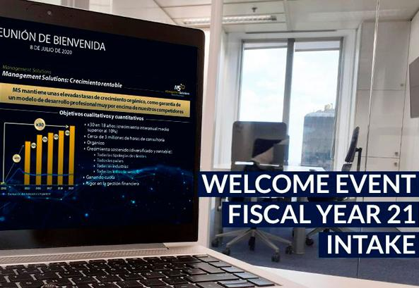 Welcome event for our Spain offices' Fiscal Year 21 intake
