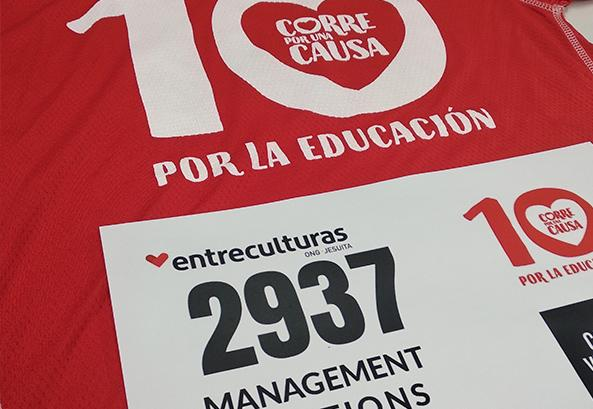 "Management Solutions participates in the 10th edition of the ""Run for a cause"" solidarity race"