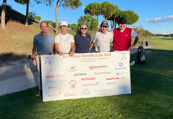 Management Solutions wins the ProAm charity golf tournament organized by Fundación DyD