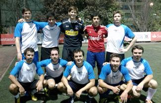 Management Solutions Chile's soccer team at the 2015 Enterprise Masters tournament
